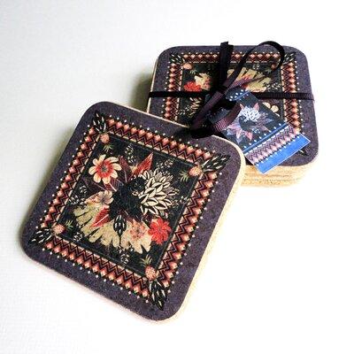 Decorque Tropical Panther 10.5cm Heat-Resistant Cork Coasters
