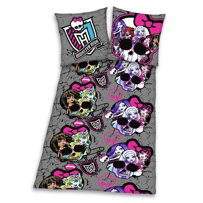 Herding Heimtextil Bettwäsche-Set Monster High aus 100% Baumwolle