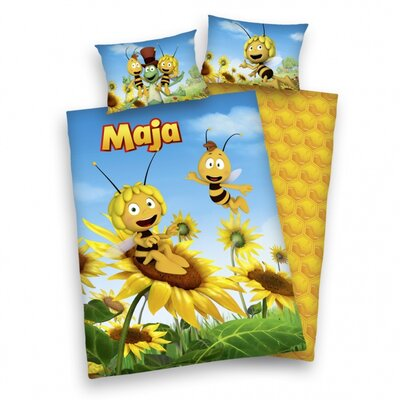 Herding Heimtextil 3D-Bettwäsche-Set Biene Maja aus 100% Baumwolle (Flanell)