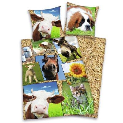 Herding Heimtextil Bettwäsche-Set Young Collection aus 100% Baumwolle (Linon)