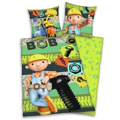 Herding Heimtextil Bettwäsche-Set Bob der Baumeister mit Reißverschluss aus 100% Baumwolle