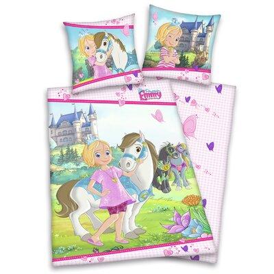 Herding Heimtextil Bettwäsche-Set Prinzessin Emmy aus 100% Baumwolle (Linon)