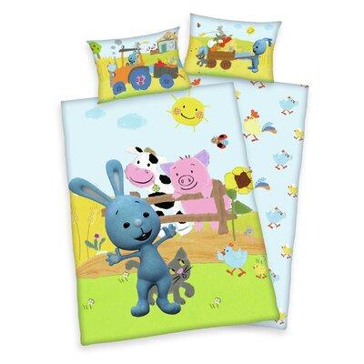 Herding Heimtextil Kinder Bettwäsche-Set Kikaninchen