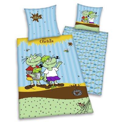 Herding Heimtextil Kinder Bettwäsche-Set Die Olchis