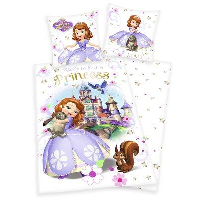 Herding Heimtextil Bettwäsche-Set Disney's Sofia die Erste mit Reißverschluss aus Baumwolle