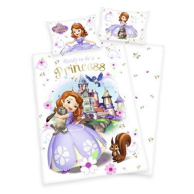 Herding Heimtextil Bettwäsche-Set Disney's Sofia die Erste mit Knopfverschluss aus Baumwolle