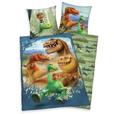 Herding Heimtextil Bettwäsche-Set Disney's The Good Dinosaur mit Knopfverschluss aus 100% Baumwolle