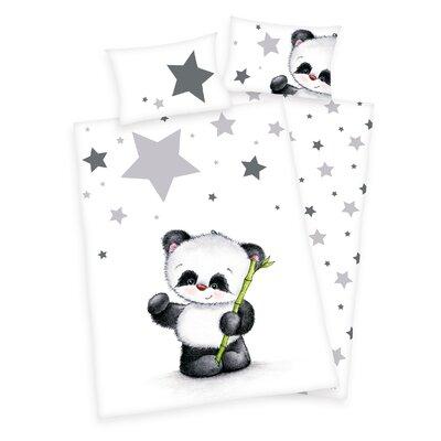 Herding Heimtextil Bettwäsche-Set Panda Jana mit Knopfleiste