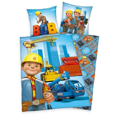 Herding Heimtextil Bettwäsche-Set Bob der Baumeister