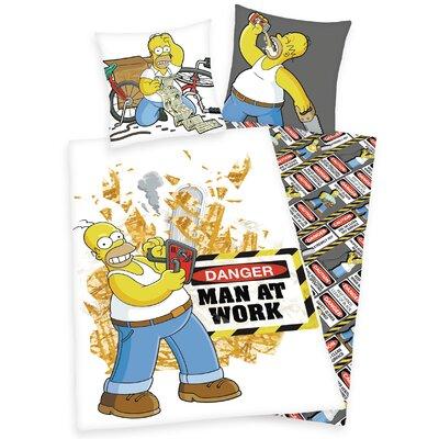 Herding Heimtextil Bettwäsche-Set The Simpsons