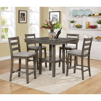 Tahoe 5 Piece Counter Height Dining Set Color: Grey