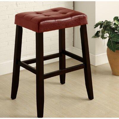"Lyndale Saddle 29"" Bar Stool Upholstery: Red"