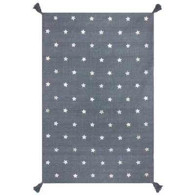 Art for kids Hand-Woven Grey Area Rug