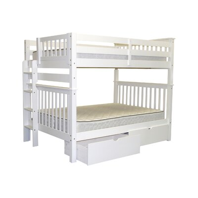 Mission Full over Full Bunk Bed with Storage Bed Frame Color: White