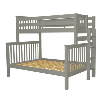 Mission Twin over Full Bunk Bed Bed Frame Color: Gray
