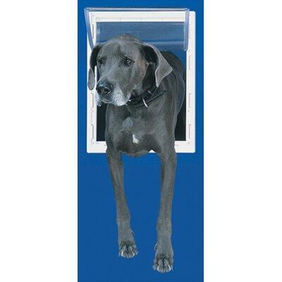 Extra Large White Aluminum Pet Door