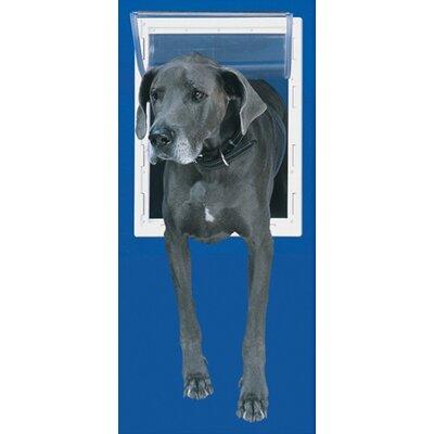 Super Large White Aluminum Pet Door