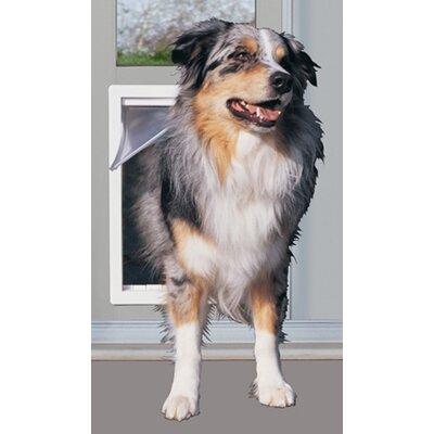 """10-1/2"""" X 15"""" XL White Modular Pet Patio Door Color: White"""
