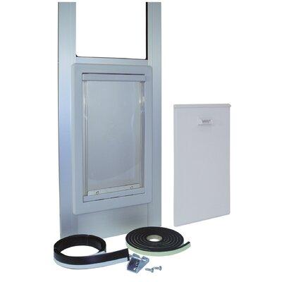 "Modular Vinyl Patio Door Size: Medium (""76.75-78.5 H x 14"" W x 2.5"" L)"