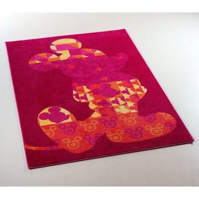 House Additions Fairytale Red Area Rug