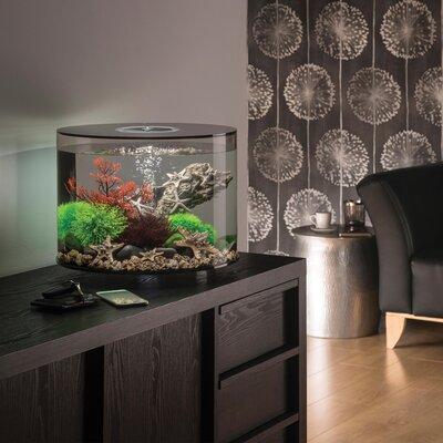 """15 LED Aquarium Tank Size: 14.5"""" H x 16"""" W x 16"""" D, Color: Black"""