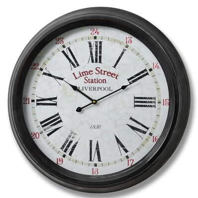 Hill Interiors Oversized 62cm Lime Street Liverpool Wall Clock