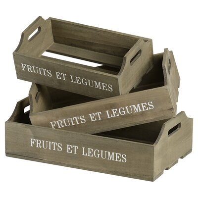 Hill Interiors Set of 3 Fruit Trays