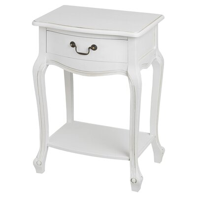 Hill Interiors White Room 1 Drawer Bedside Table