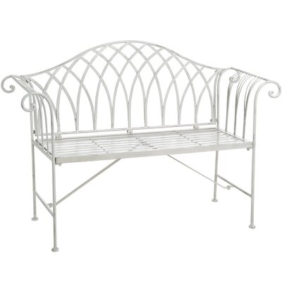 Hill Interiors 2 Seater Iron Bench