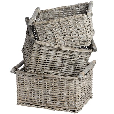 Hill Interiors Countryside 3 Piece Basket Set