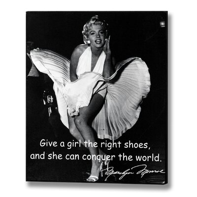 Hill Interiors Marilyn Monroe Right Shoes Photographic Print Plaque