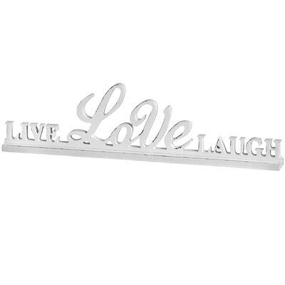 Hill Interiors Live Love Laugh Shelf Sitter Letter Block