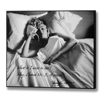 Hill Interiors Marilyn Monroe Channel No. Five Graphic Art Plaque