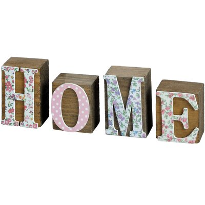 Hill Interiors Floral Home Word Block Typography