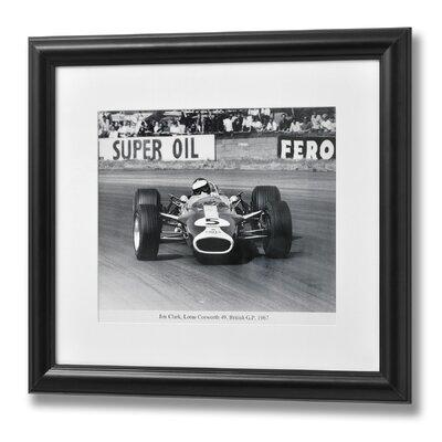 Hill Interiors Jim Clarke British Grand Prix Framed Photographic Print