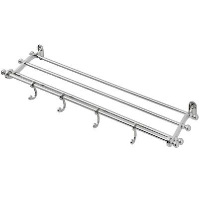 Hill Interiors Plated Bathroom Wall Mounted Coat Rack