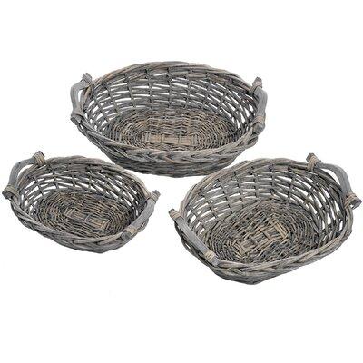 Hill Interiors 3 Piece Wicker Basket Set
