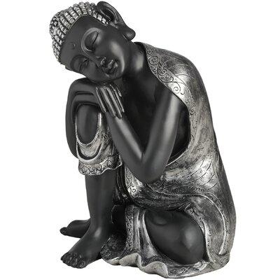 Hill Interiors Head On Right Knee Resting Buddha Figurine