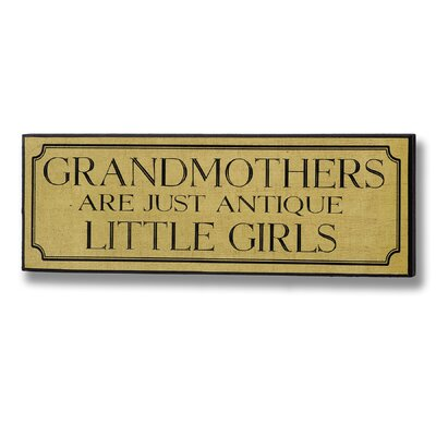 Hill Interiors Grandmothers Typography Plaque