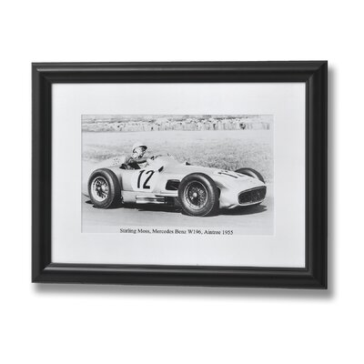 Hill Interiors Stirling Moss, Mercedes Benz W196, Anitree 1955 Framed Photographic Print