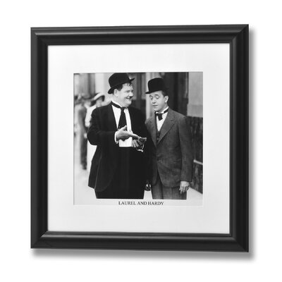 Hill Interiors Laurel and Hardy Framed Photographic Print