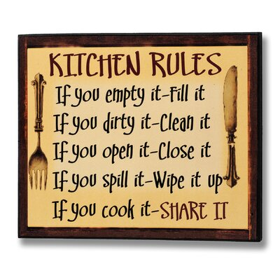 Hill Interiors Kitchen Rules Typography Plaque