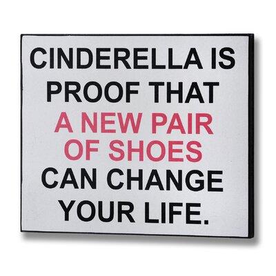 Hill Interiors Cinderella Typography Plaque