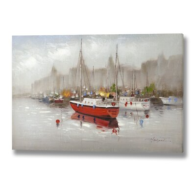 Hill Interiors Boat Original Painting Wrapped on Canvas