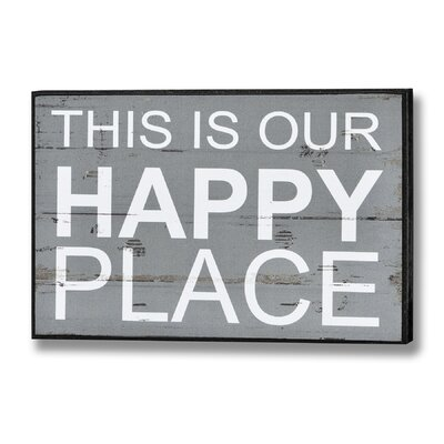 Hill Interiors This is Our Happy Place Typography Plaque