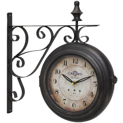 Hill Interiors Elephant and Castle Hanging Wall Clock