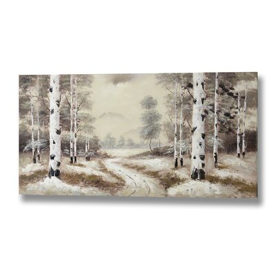 Hill Interiors Woodland Original Painting on Canvas