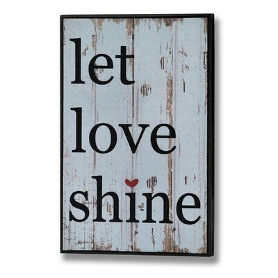 Hill Interiors Let Love Shine Typography Plaque