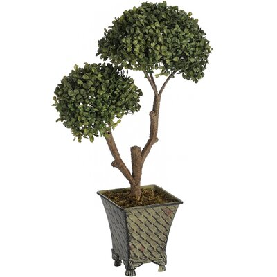 Hill Interiors Double Ball Plant in Metal Pot