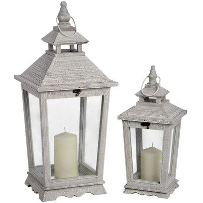 Hill Interiors 2 Piece Lantern Set